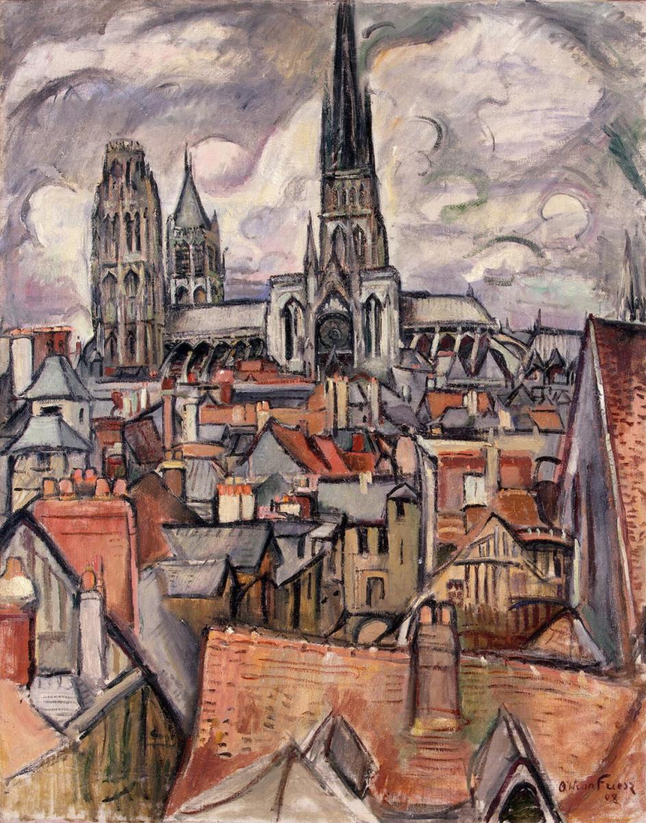 Отон Фриез. Крыши и кафедральный собор в Руане