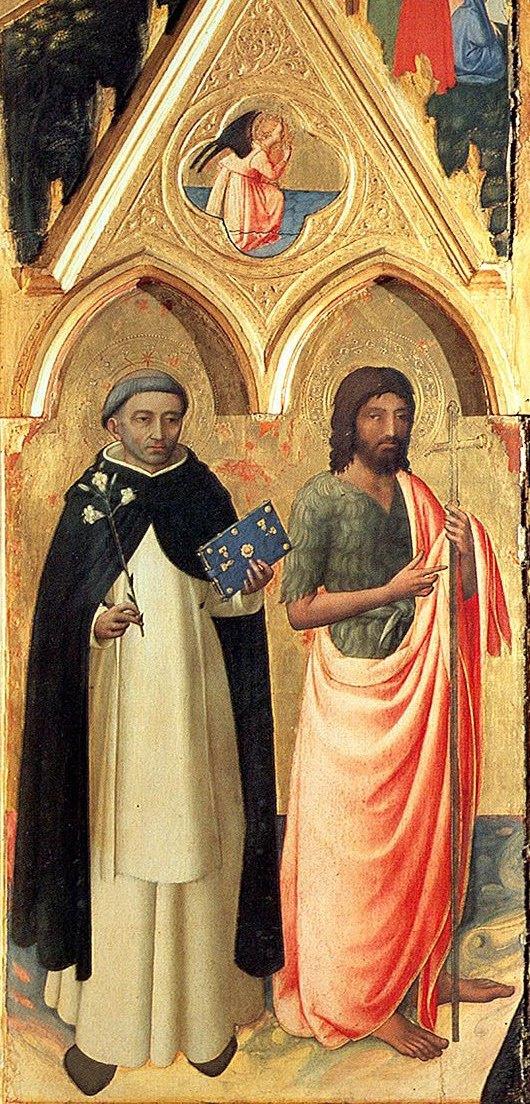 Фра Беато Анджелико. Святой Доминик и Иоанн Креститель. Алтарь святого Петра Мученика