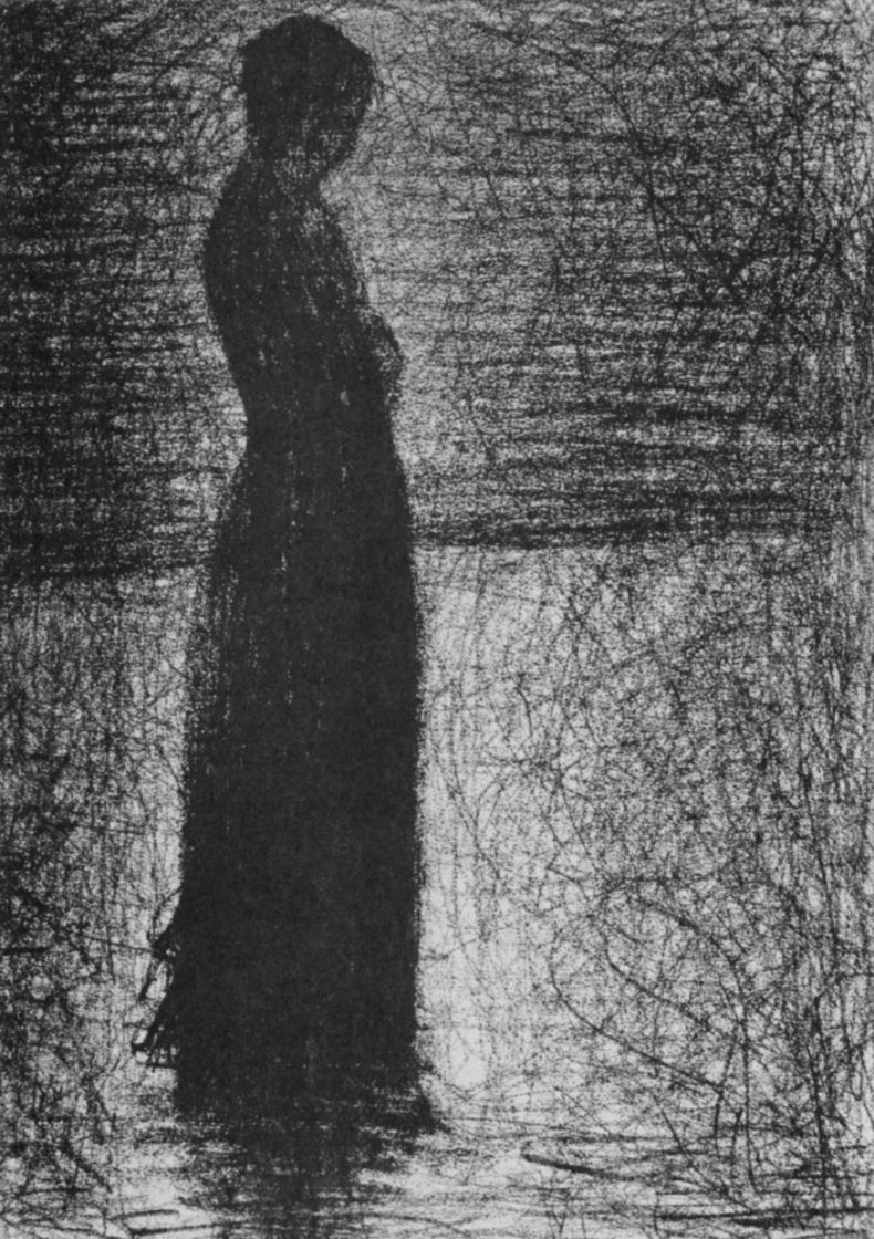 Georges Seurat. The woman standing