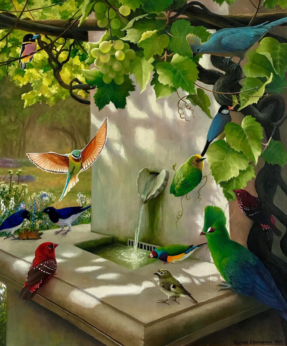 Katerina Bukuros. Сад чудесных птиц у источника