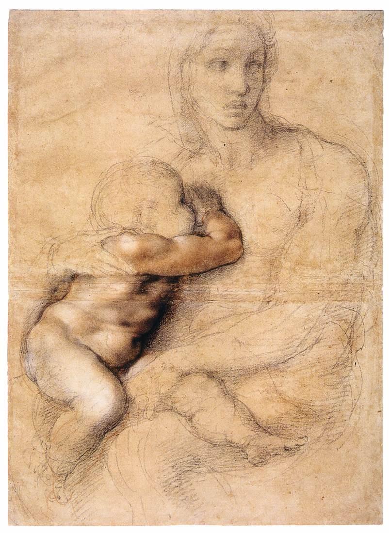 "Микеланджело Буонарроти. Эскиз ""Мадонна с младенцем"""