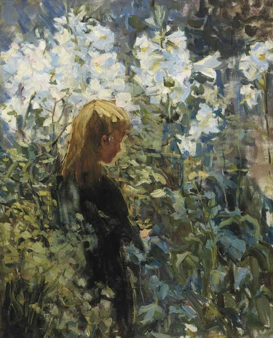 Helen Galloway McNicoll. Easter lilies