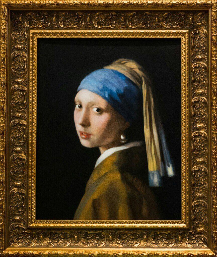 картина девушка с жемчужной сережкой фото