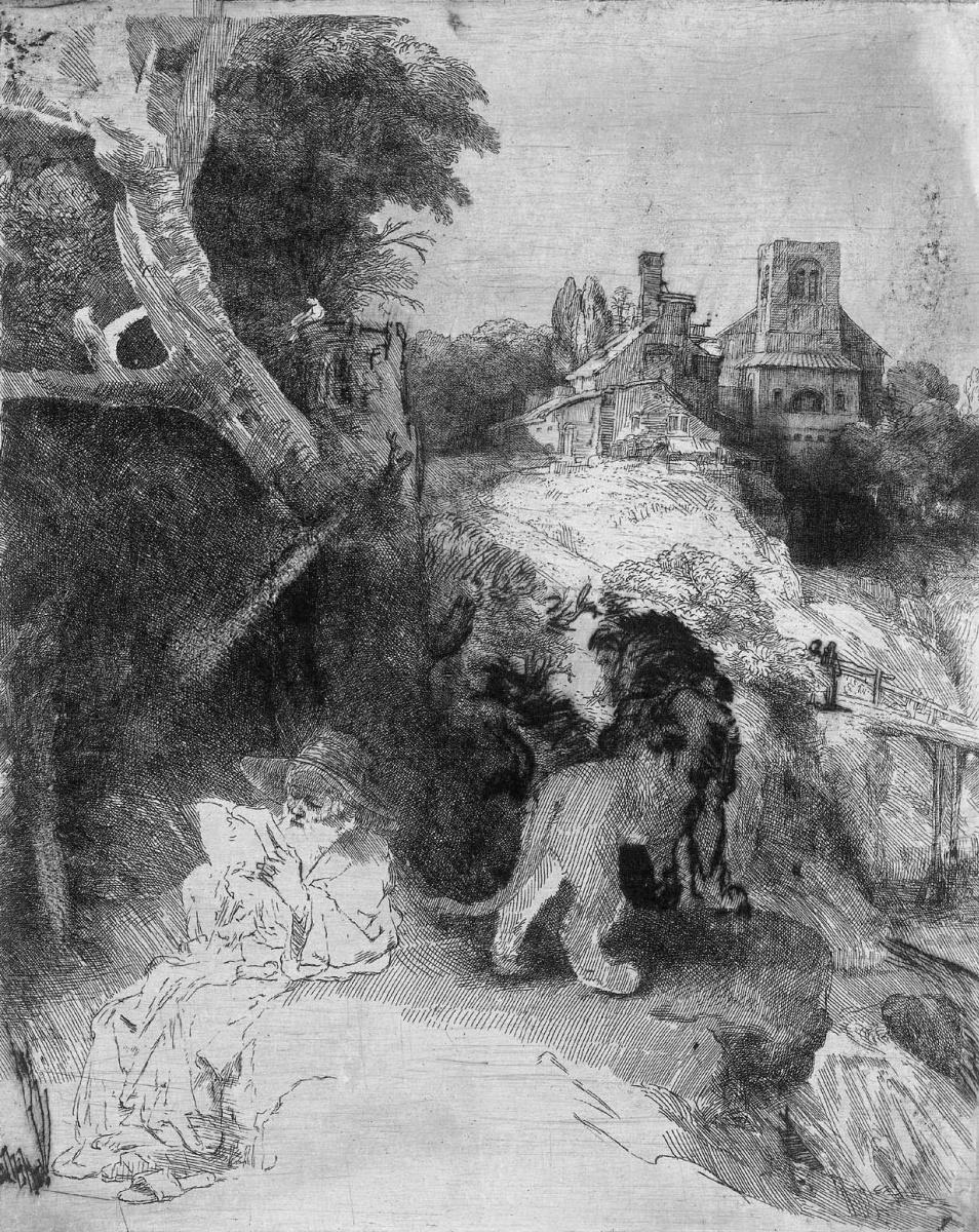 Рембрандт Харменс ван Рейн. Итальянский пейзаж