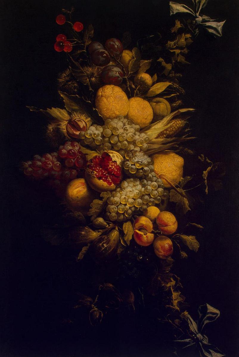 Адриан ван Утрехт. Гирлянда фруктов и овощей