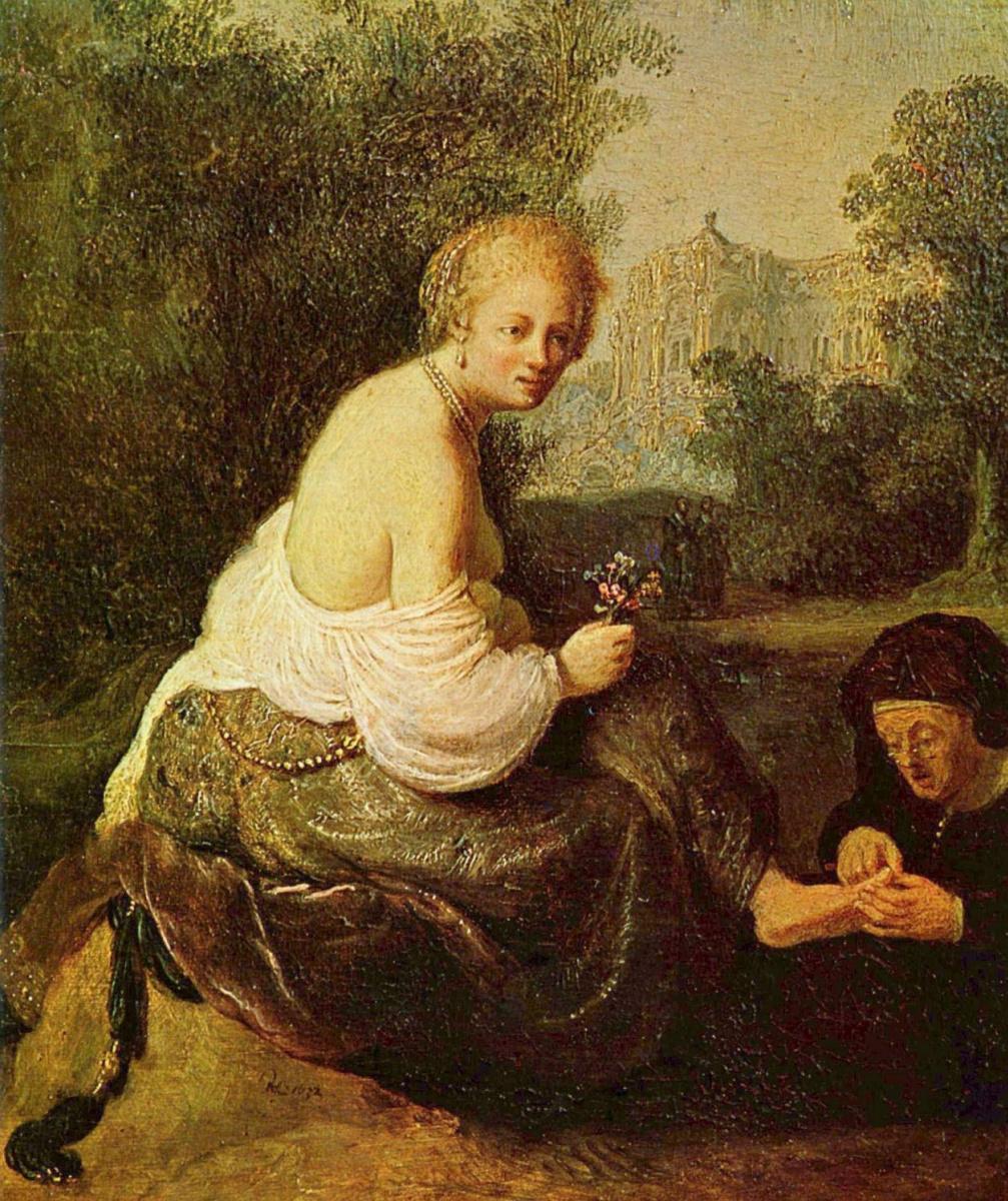 Рембрандт Харменс ван Рейн. Старуха и молодая женщина