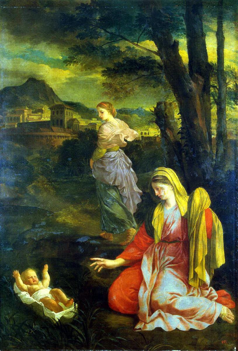 Эсташ Лесюэр. Младенец Моисей на реке Нил