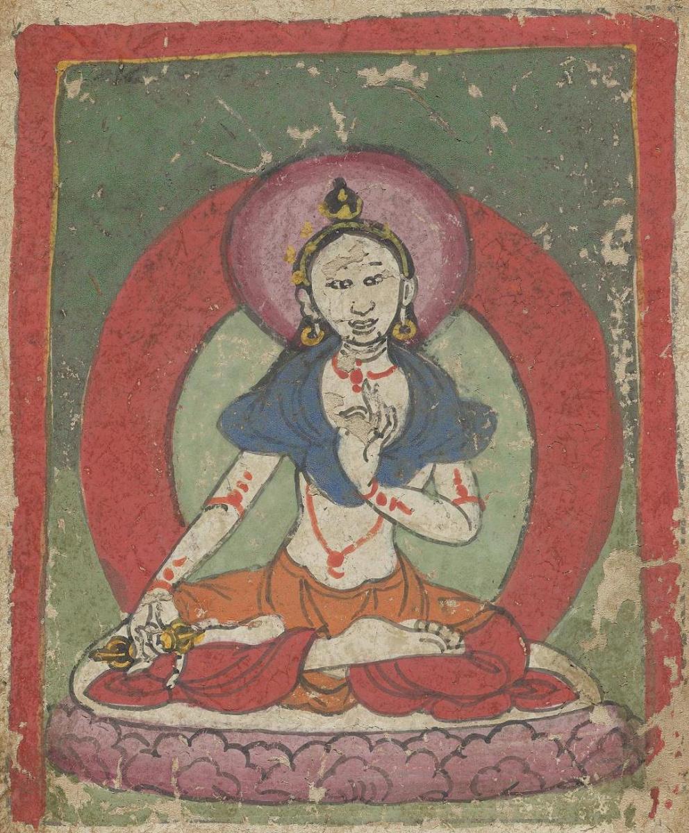 Unknown artist. The deity of the Tibetan Bon religion. Map 44