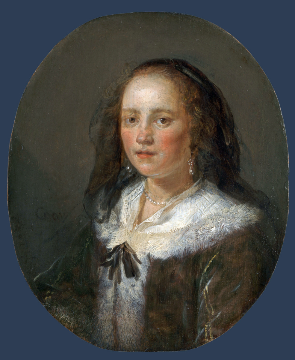 Герард Доу. Портрет молодой женщины
