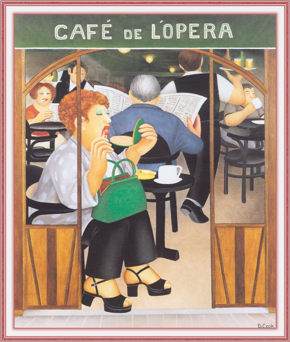 Beryl Cook. Cafe Dellopera