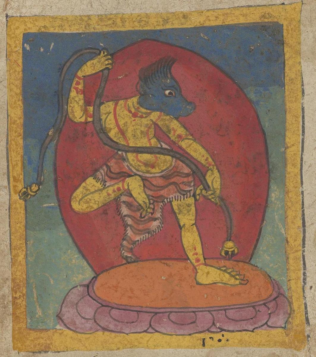 Unknown artist. The deity of the Tibetan Bon religion. Map 21