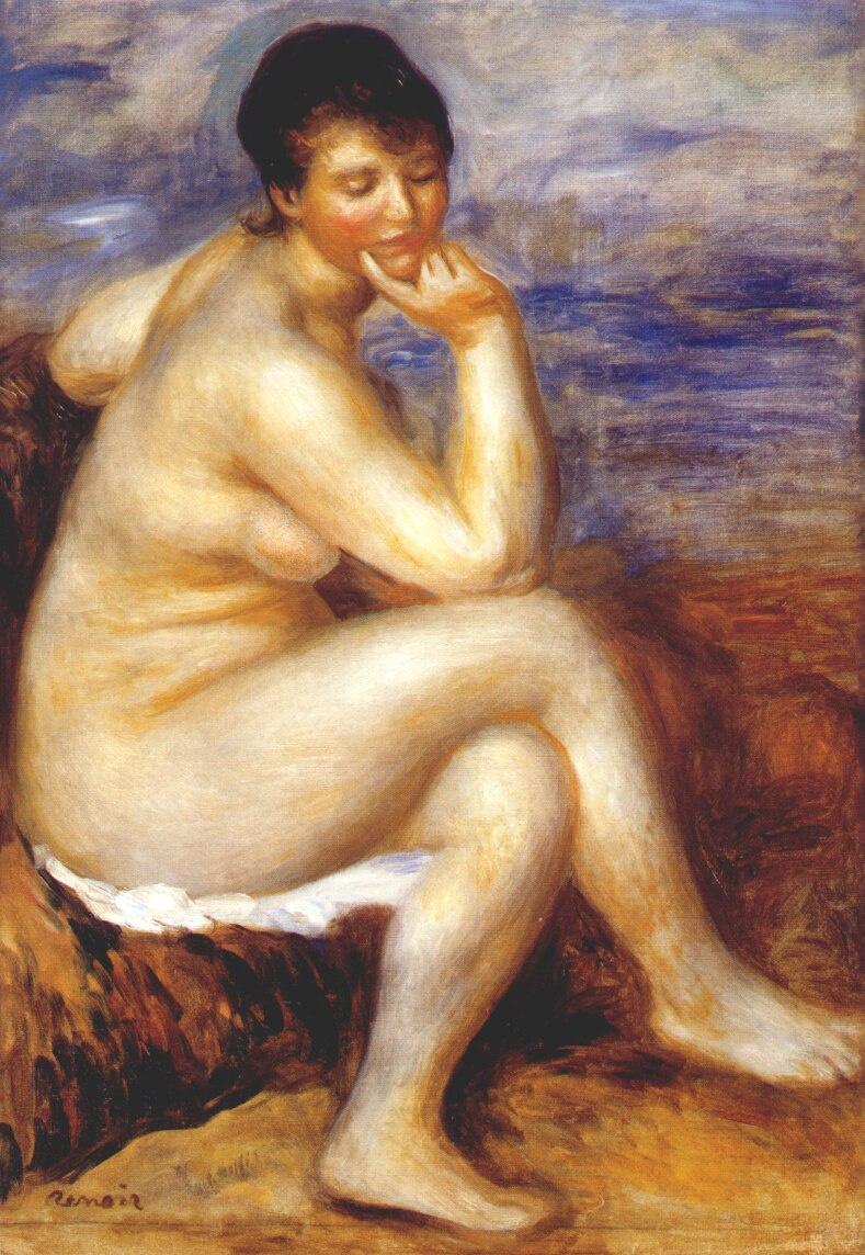 Pierre-Auguste Renoir. Bather on the rock
