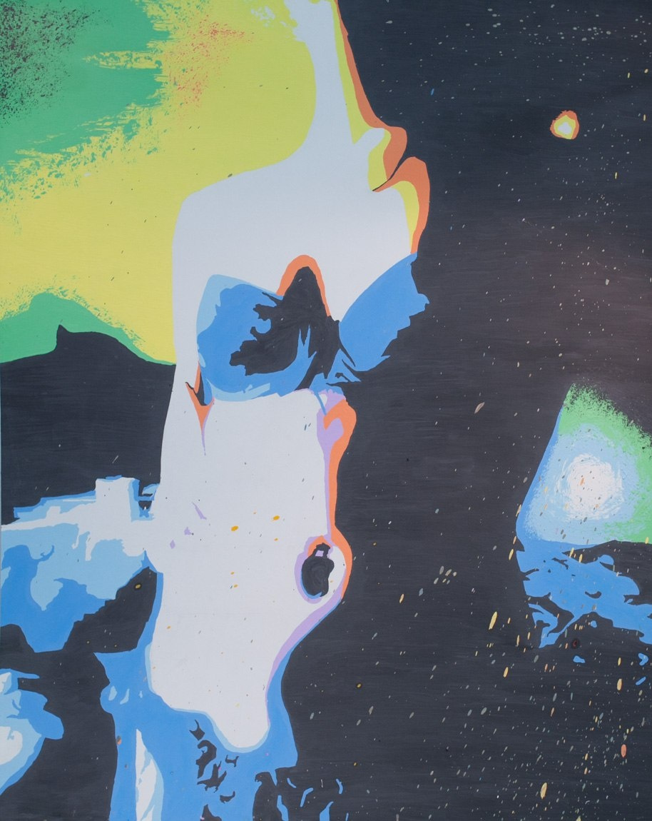 Pavel Turemsky. Silhouette. Fiberboard, acrylic. 105х135 see 2012.