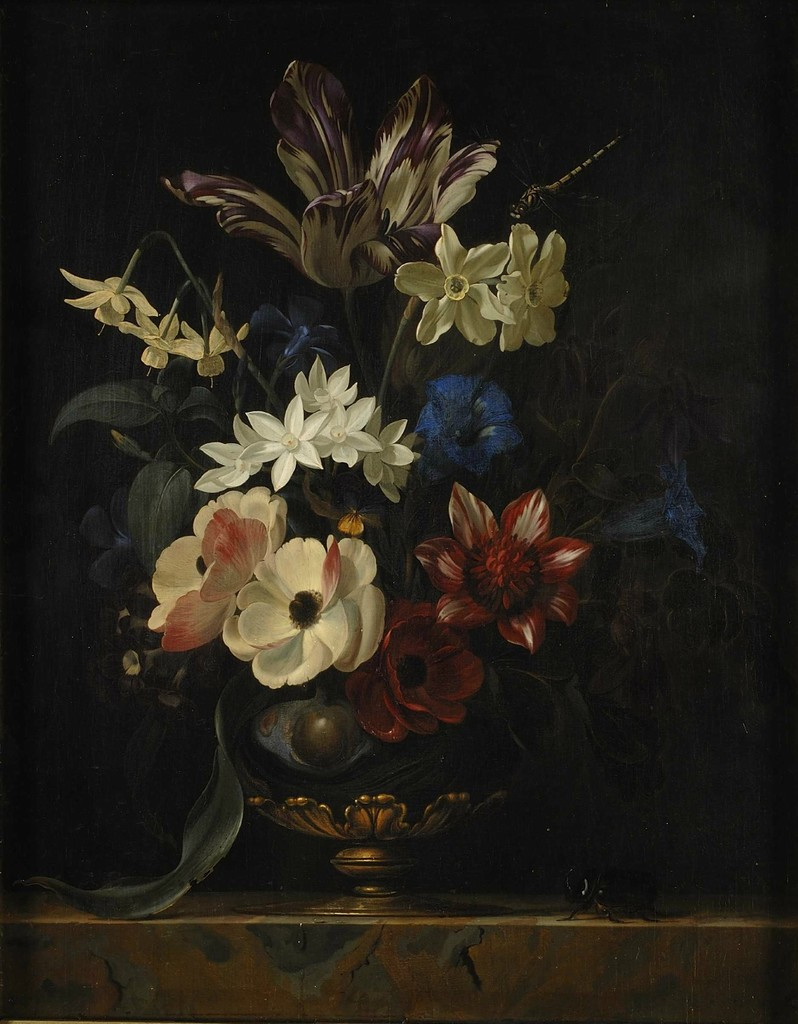 Willem van Aelst. Vase with flowers