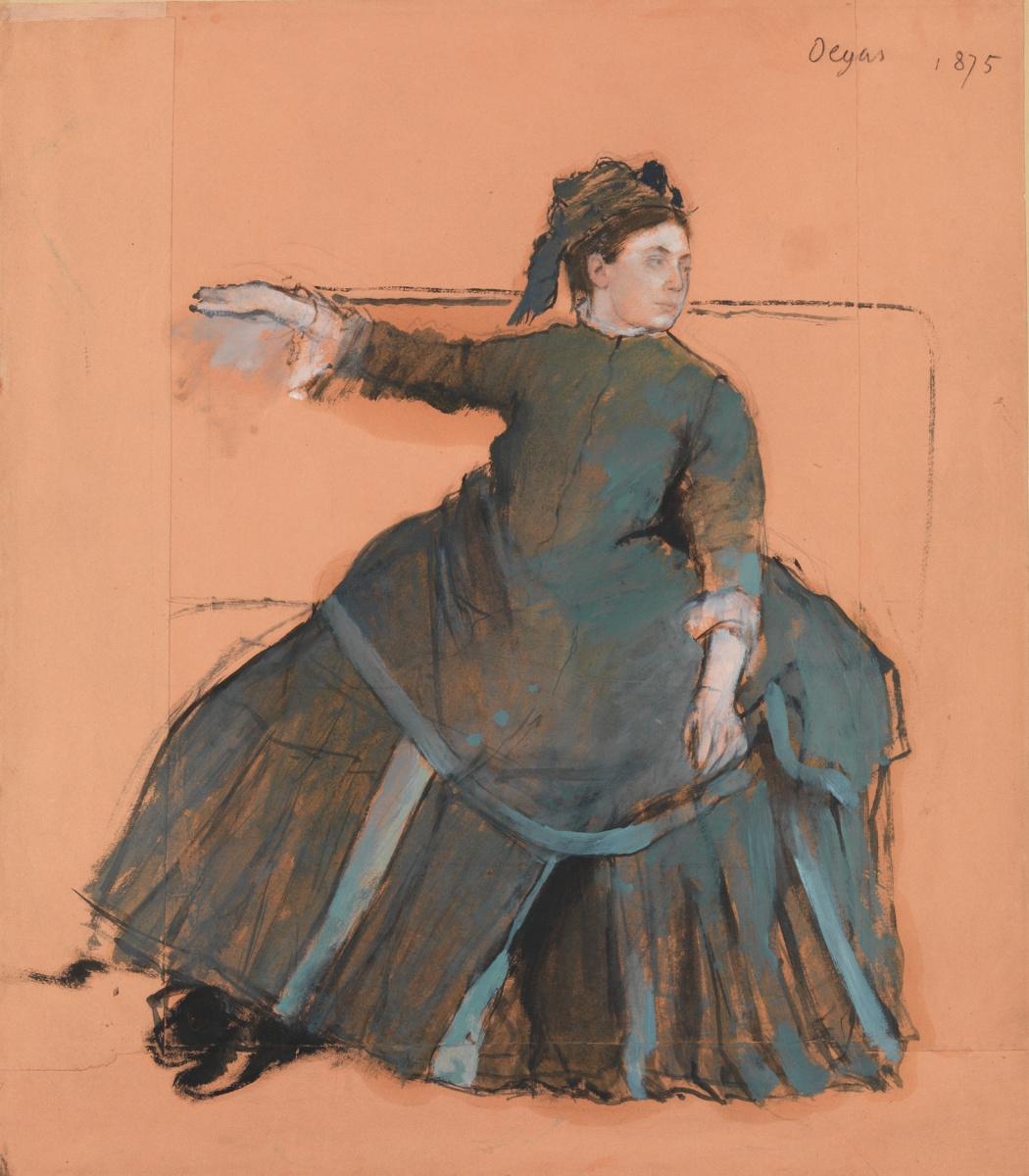 Edgar Degas. The woman on the sofa