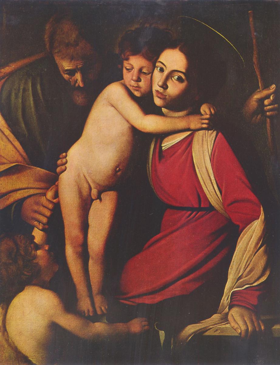 Микеланджело Меризи де Караваджо. Святое семейство с Иоанном Крестителем