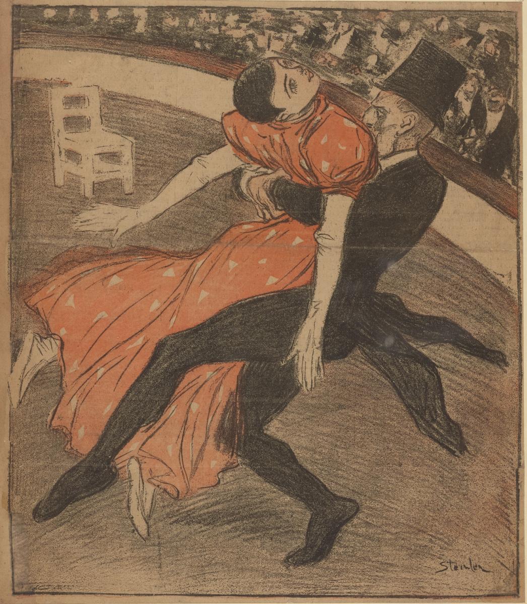 Theophile-Alexander Steinlen. Dancer-Apache