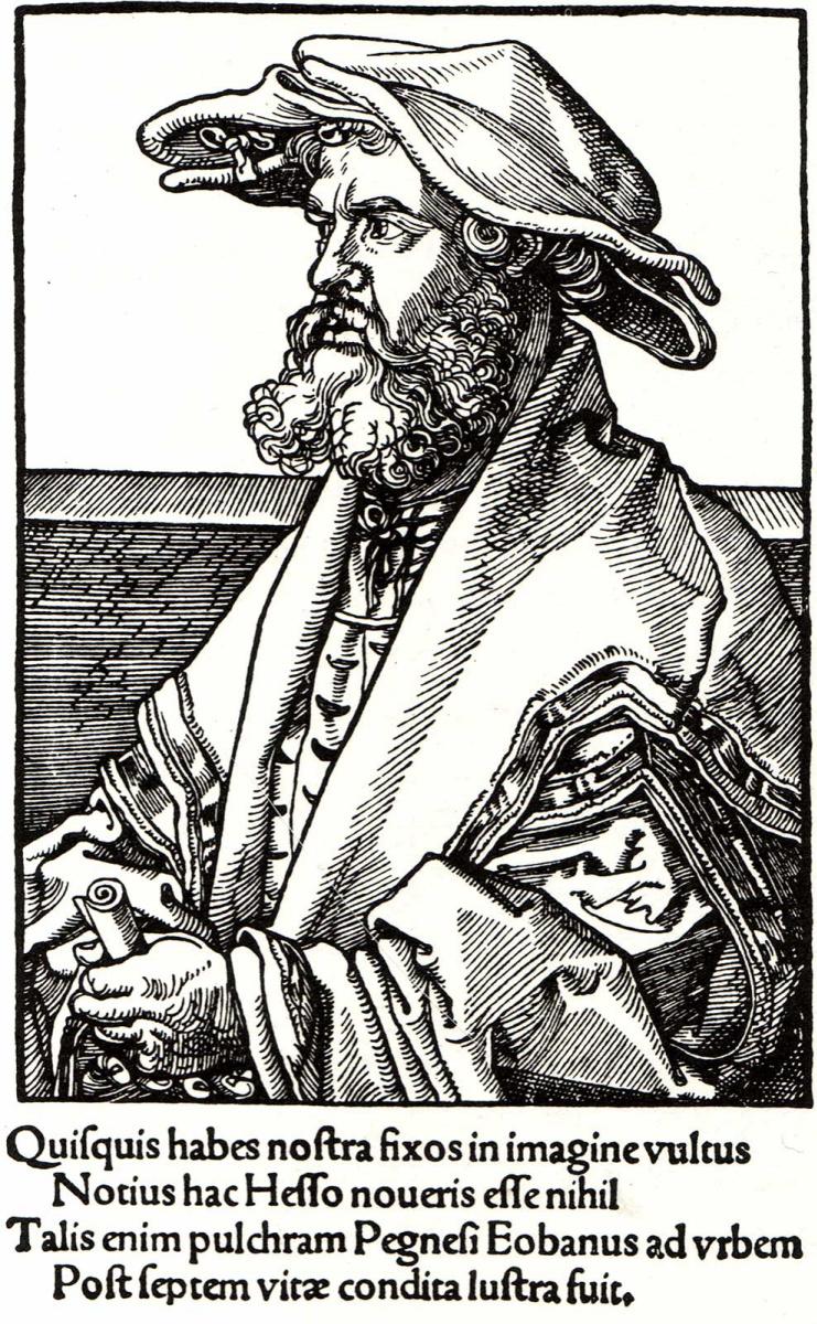 Альбрехт Дюрер. Латинский писатель Гелий Эобан Гесс