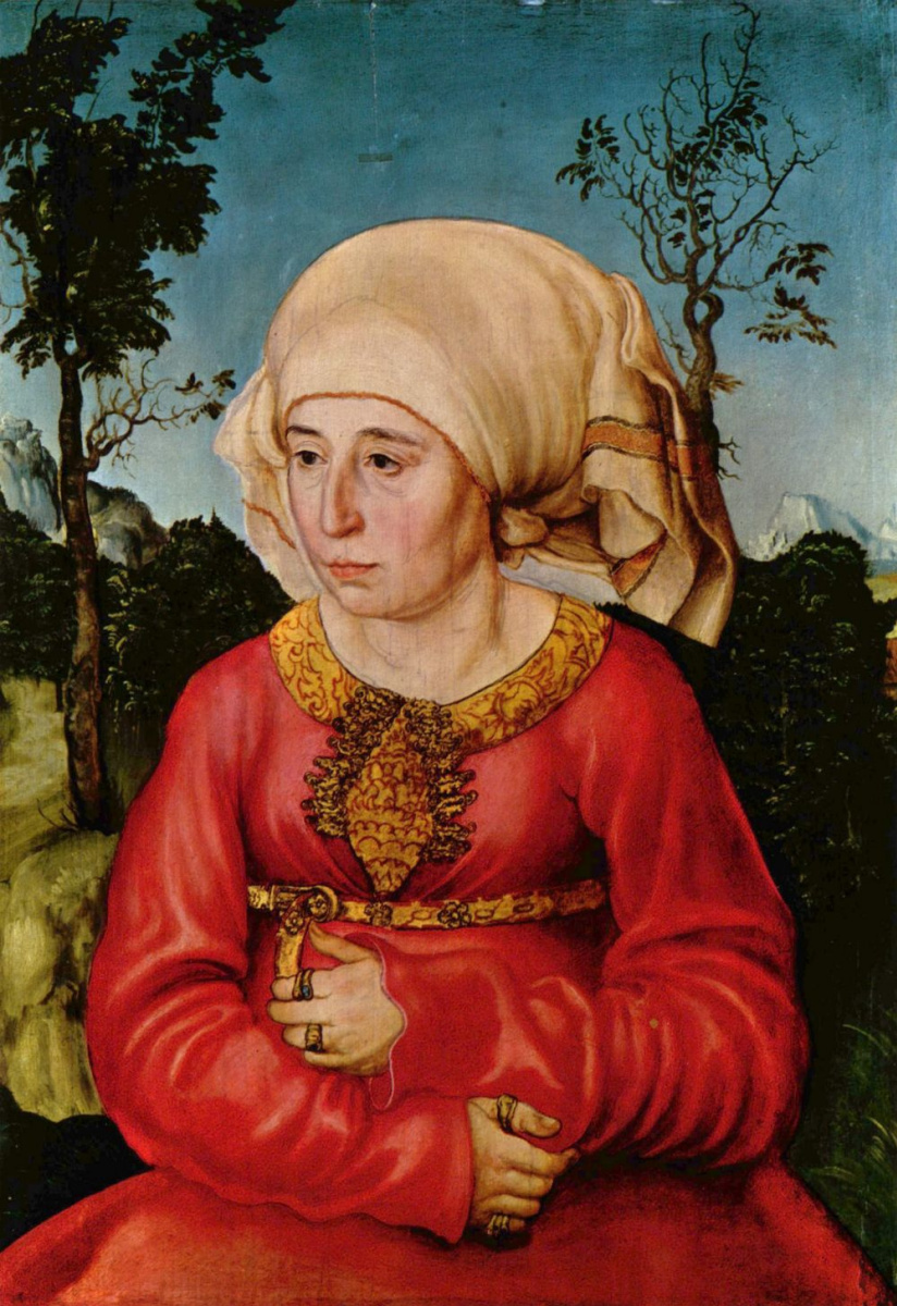 Лукас Кранах Старший. Портрет супруги доктора Иоганна Стефана Рейса