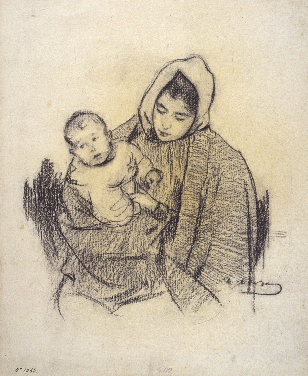 Ramon Casas i Carbó. Woman with child