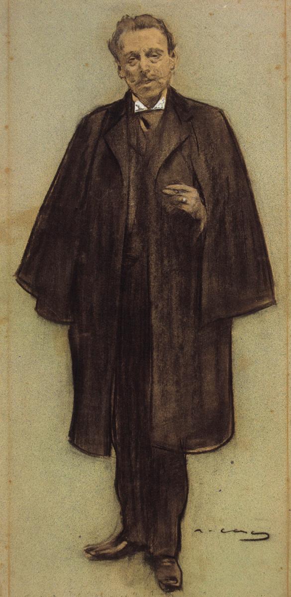 Рамон Касас Карбо. Портрет Нарциса Оллера