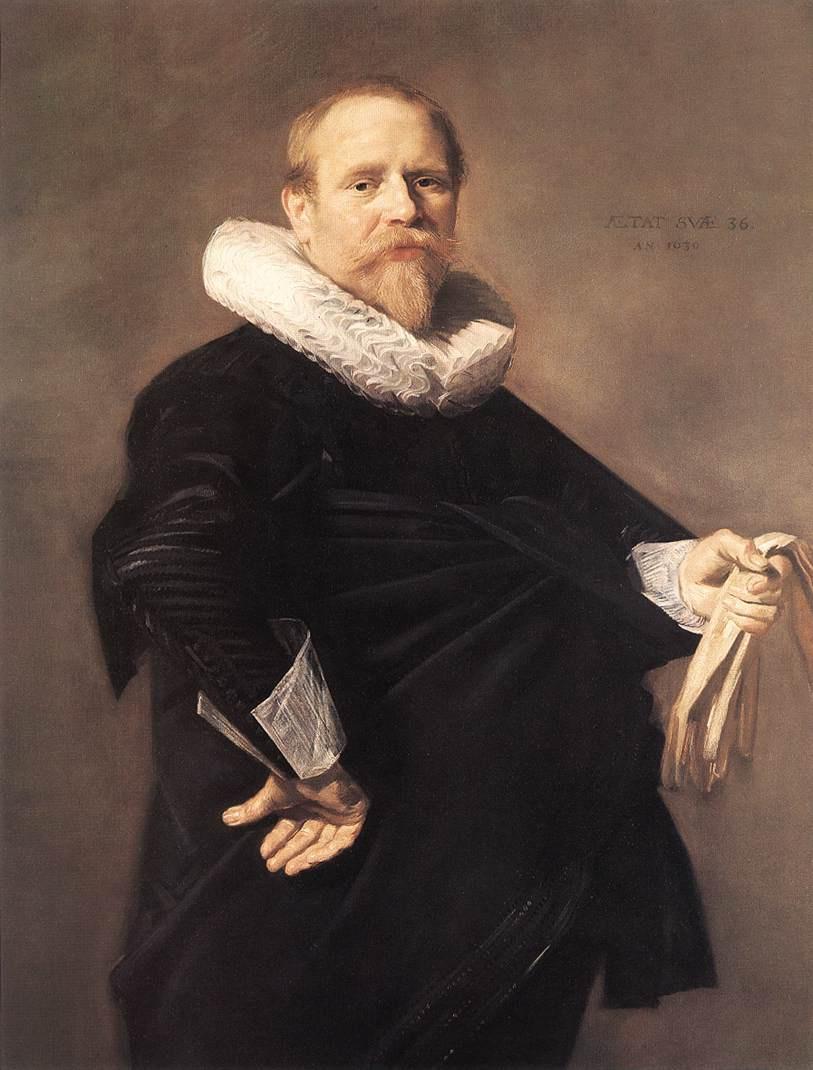 Франс Халс. Портрет с белыми перчатками