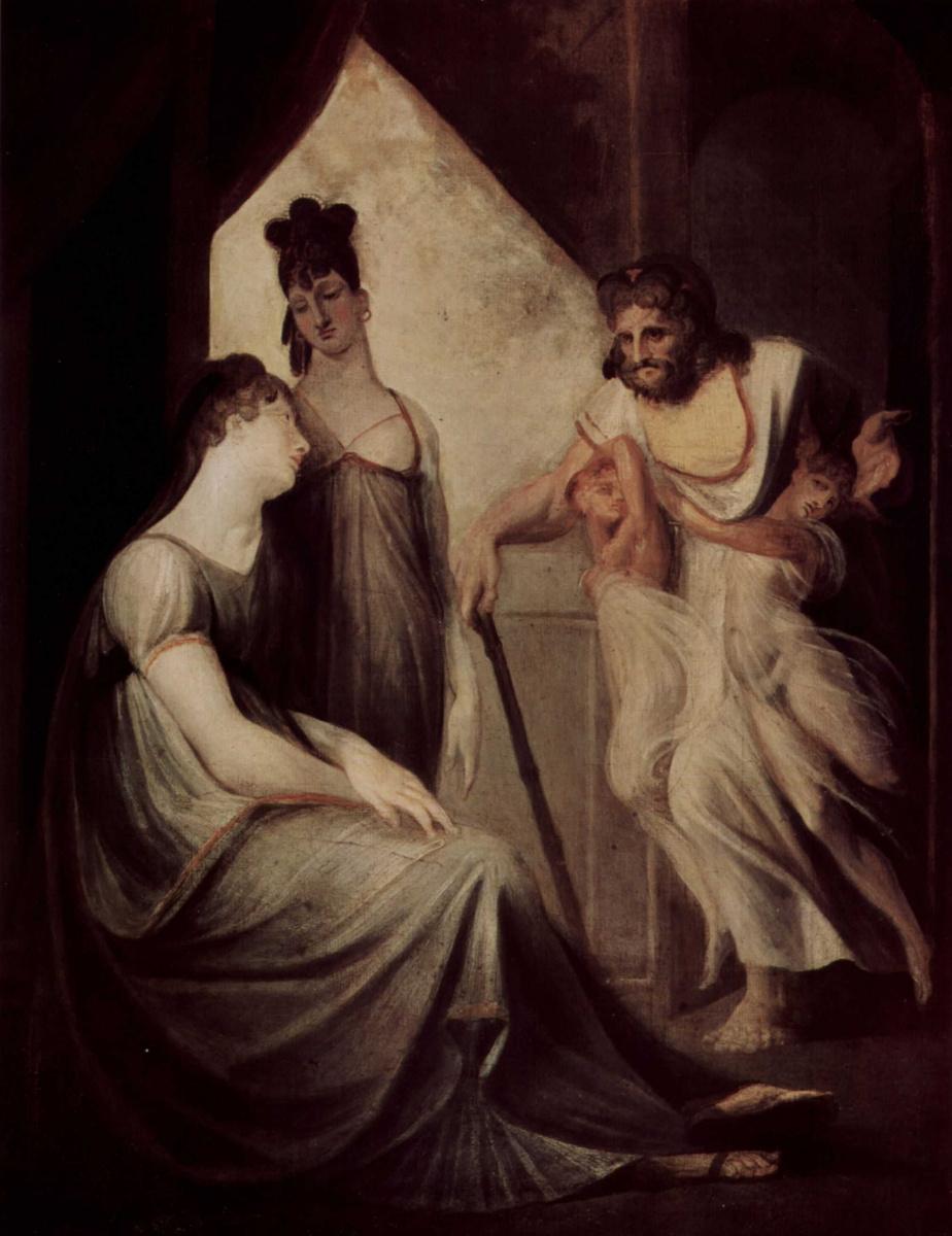 Иоганн Генрих Фюссли. Фетида просит Гефеста выковать доспехи для её сына Ахилла