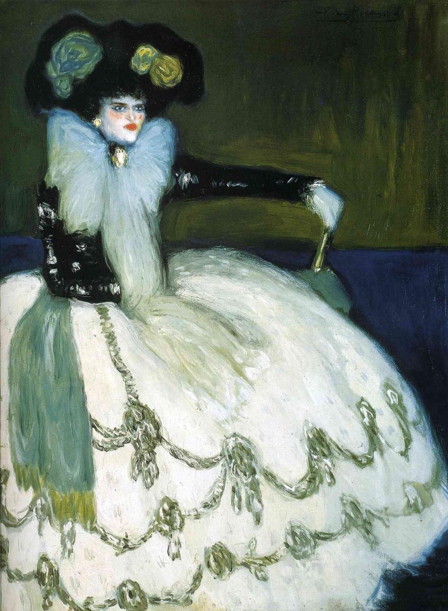 Пабло Пикассо. Женщина в голубом