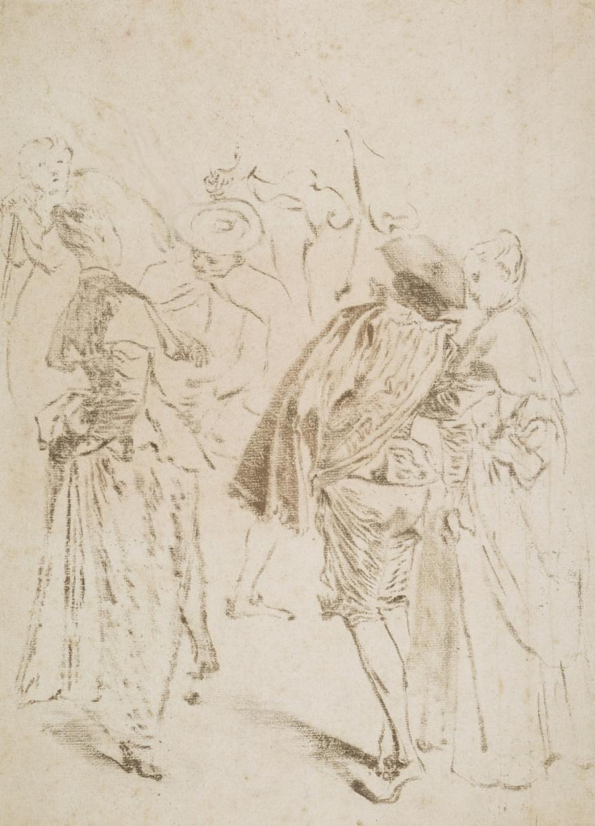 Антуан Ватто. Эскиз к Паломничеству на остров Кифера