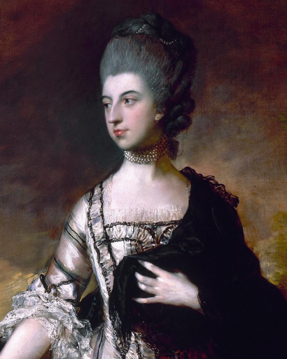 Томас Гейнсборо. Изабелла, виконтесса Молинье, 1-я графиня Сефтона. Фрагмент