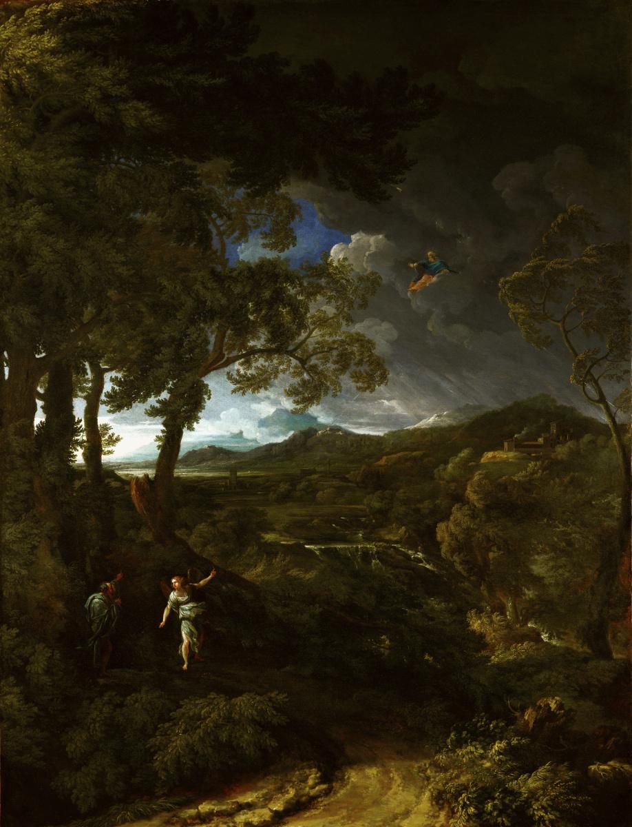 Дугхет Гаспар. Пейзаж с Илией и ангелом