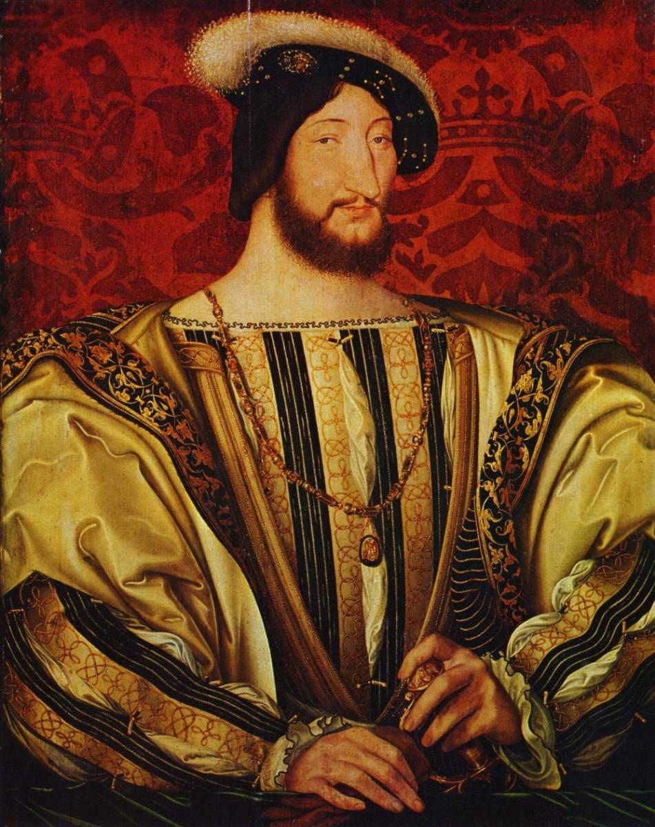 Жан Клуэ. Портрет короля Франции Франциска I