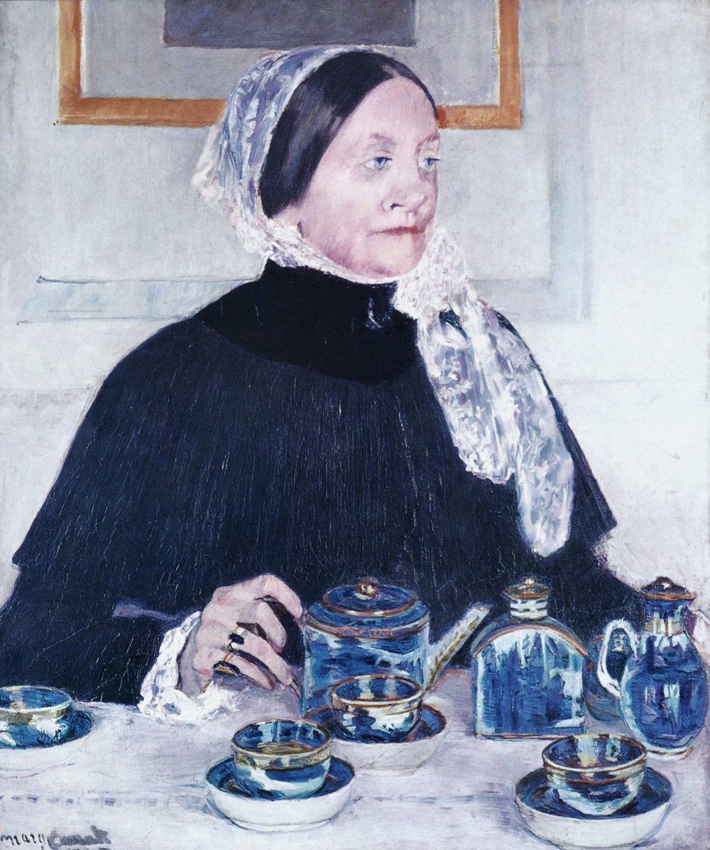 Мэри Кассат. Дама за чайным столом