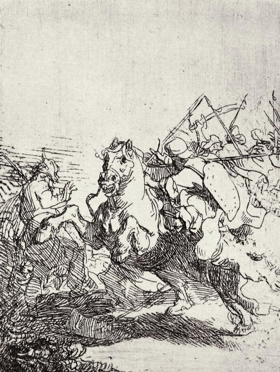Рембрандт Харменс ван Рейн. Схватка всадников