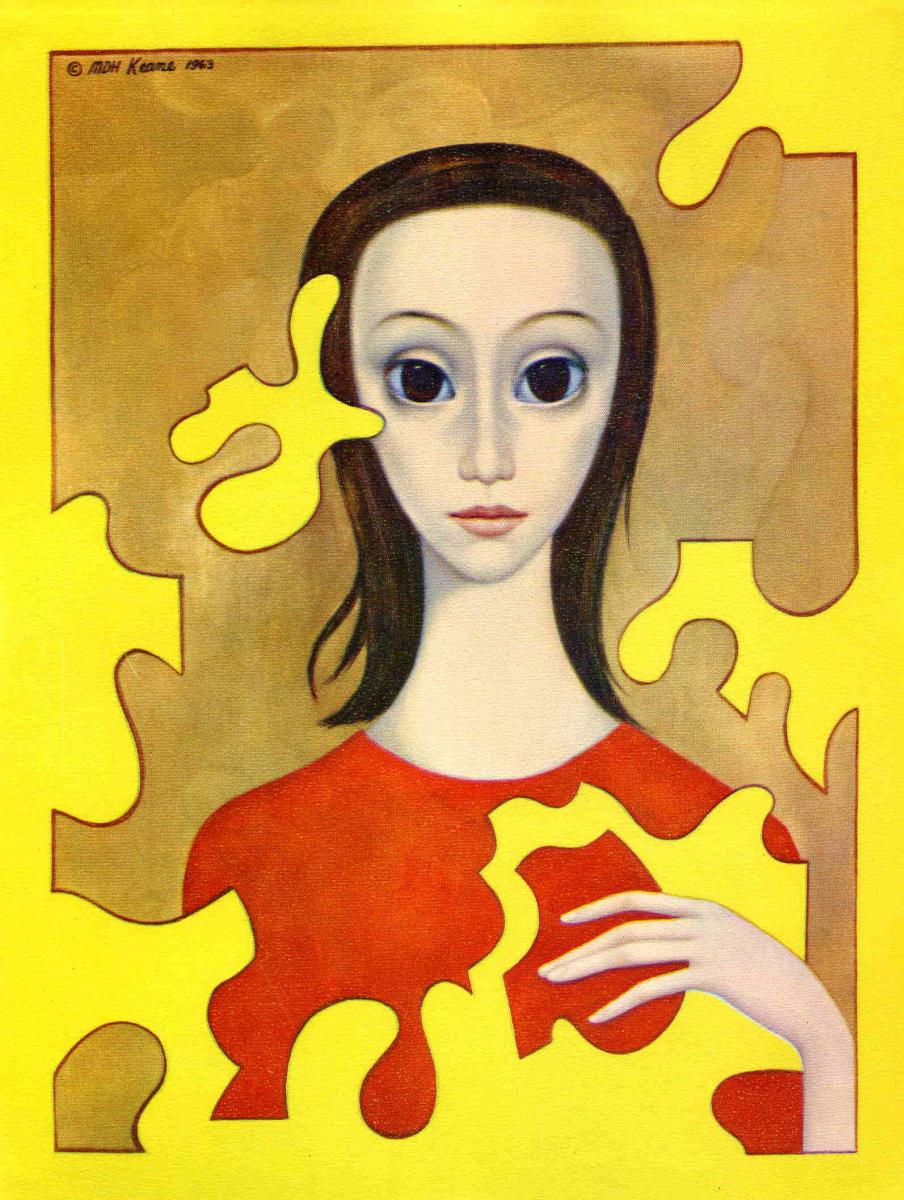 Маргарет Кин. Девушка в красном