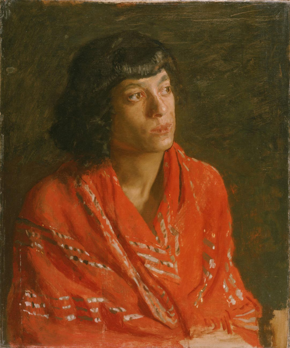 Thomas Eakins. Red shawl