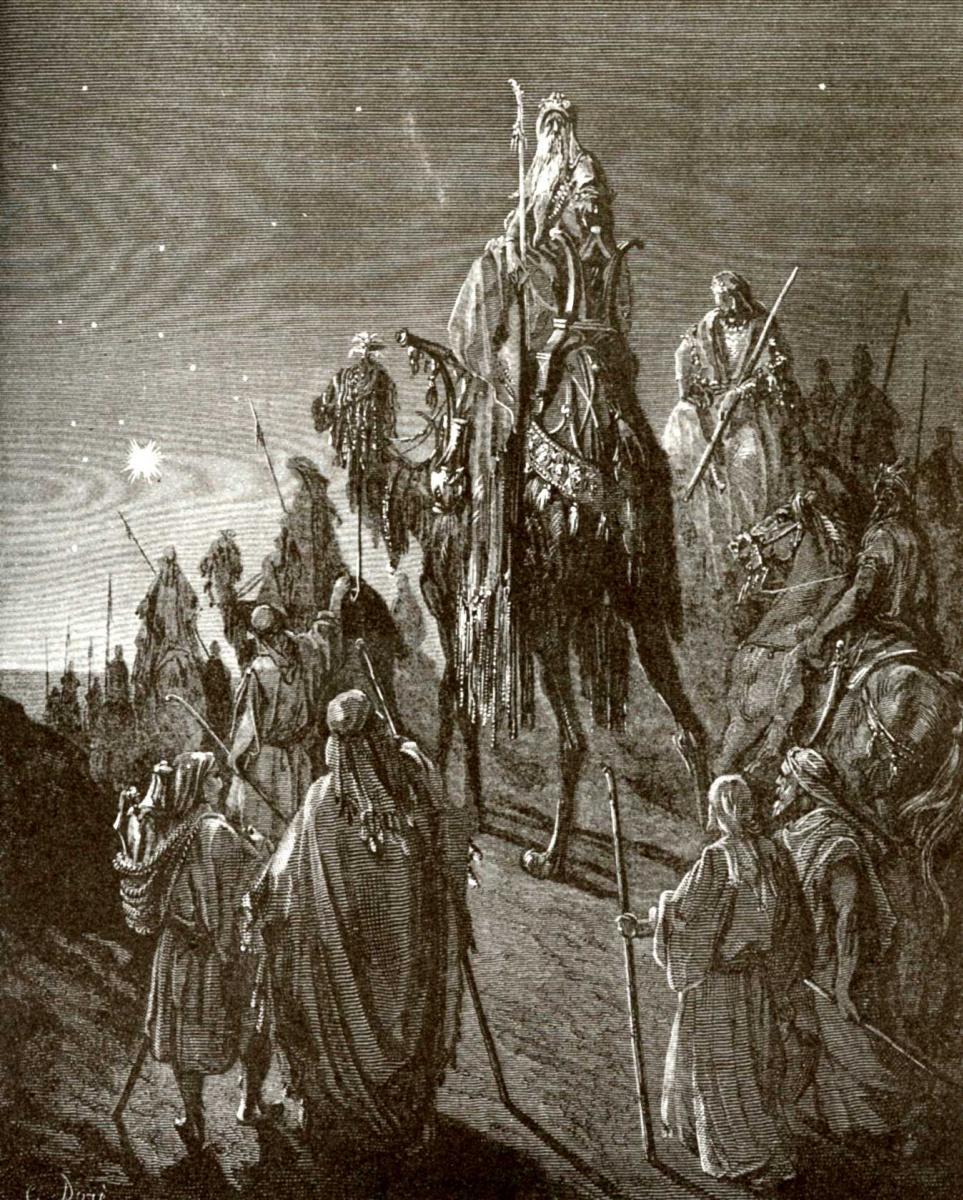 Поль Гюстав Доре. Иллюстрация к Библии: Вифлеемская звезда