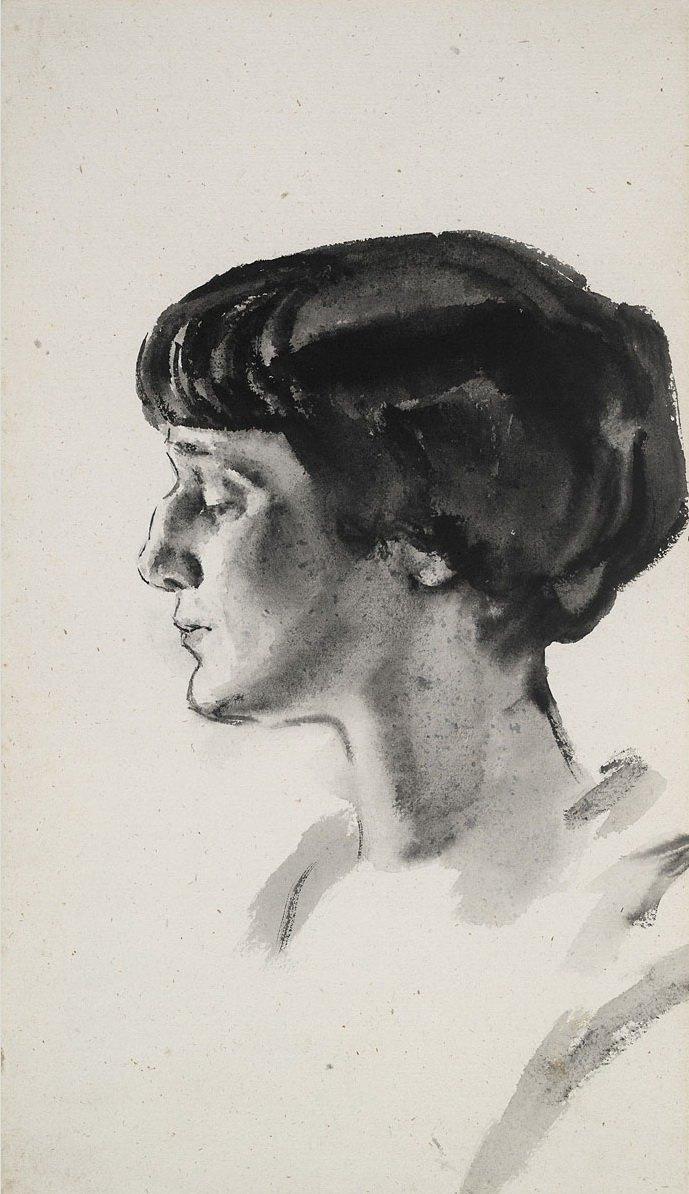 Nikolai Andreevich Tyrsa. Portrait A.A. Akhmatova