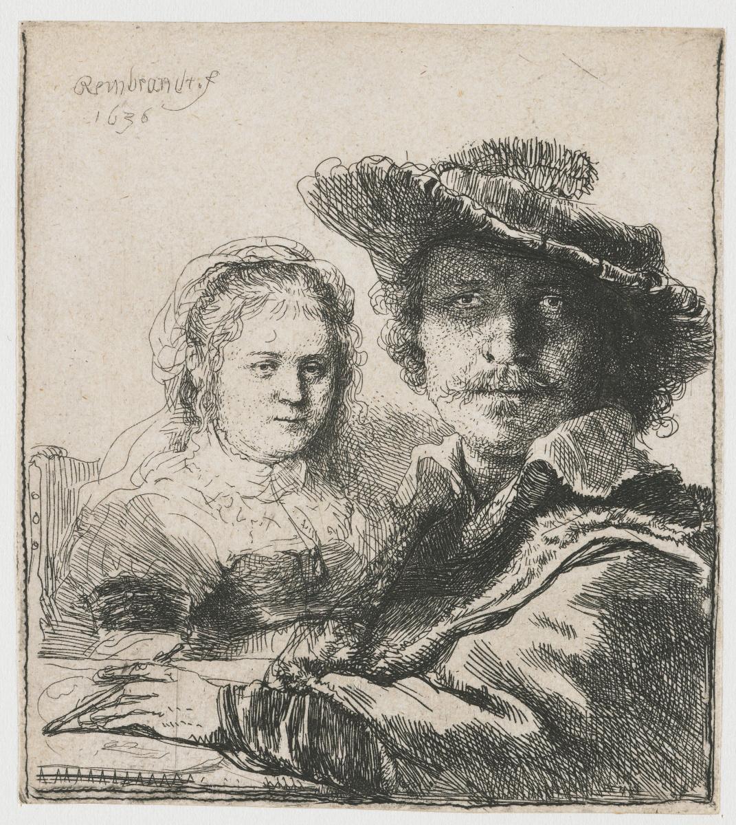 Rembrandt Harmenszoon van Rijn. Self-portrait with Saskia