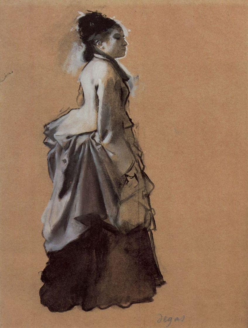 Эдгар Дега. Молодая дама в костюме для улицы