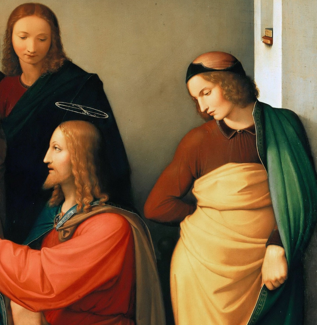Johann Friedrich Overbeck. Christ in the house of Martha and Mary. Berggruen Museum, Berlin detail