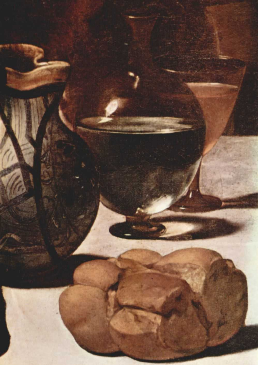 Микеланджело Меризи де Караваджо. Ужин в Эммаусе. Фрагмент