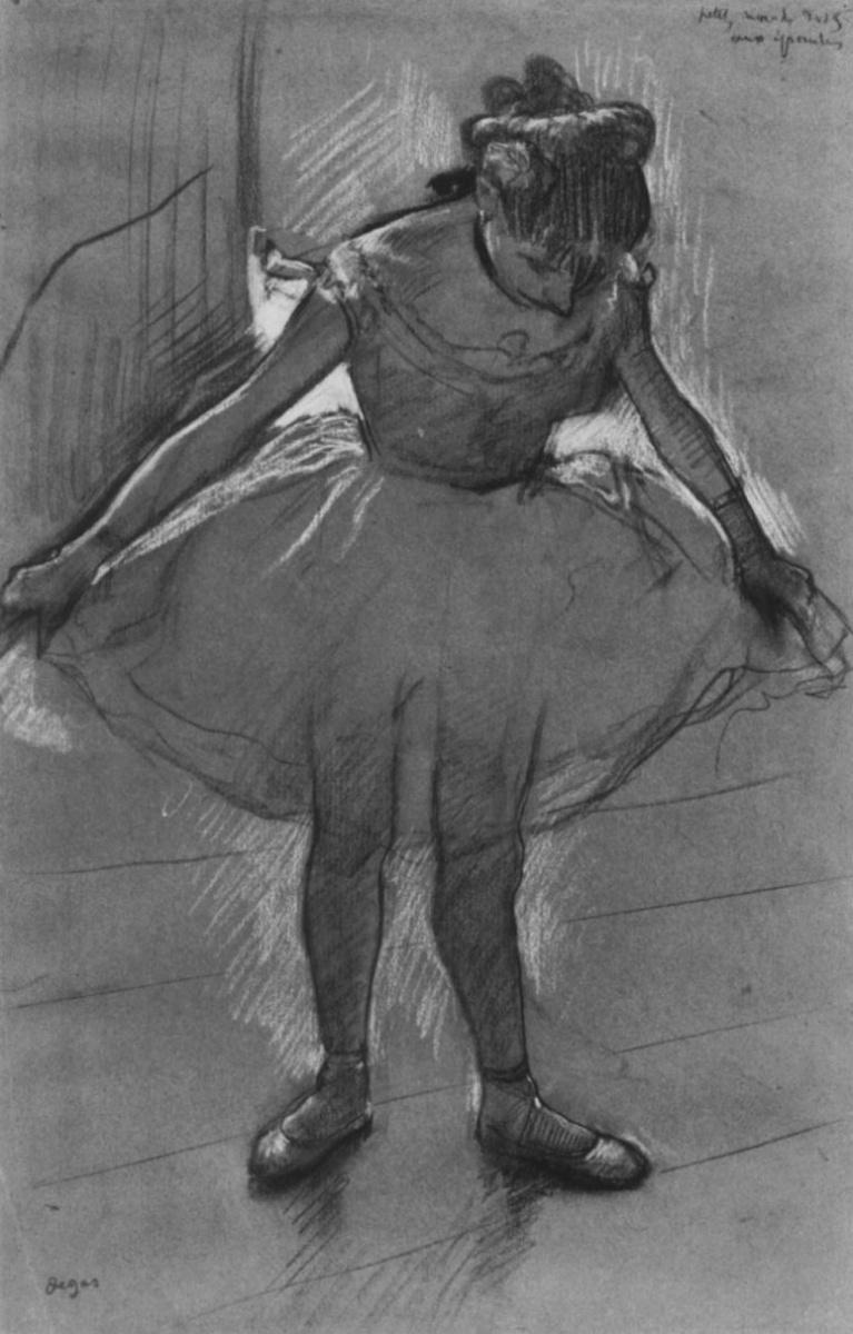 Эдгар Дега. Балерина, стоящая против света