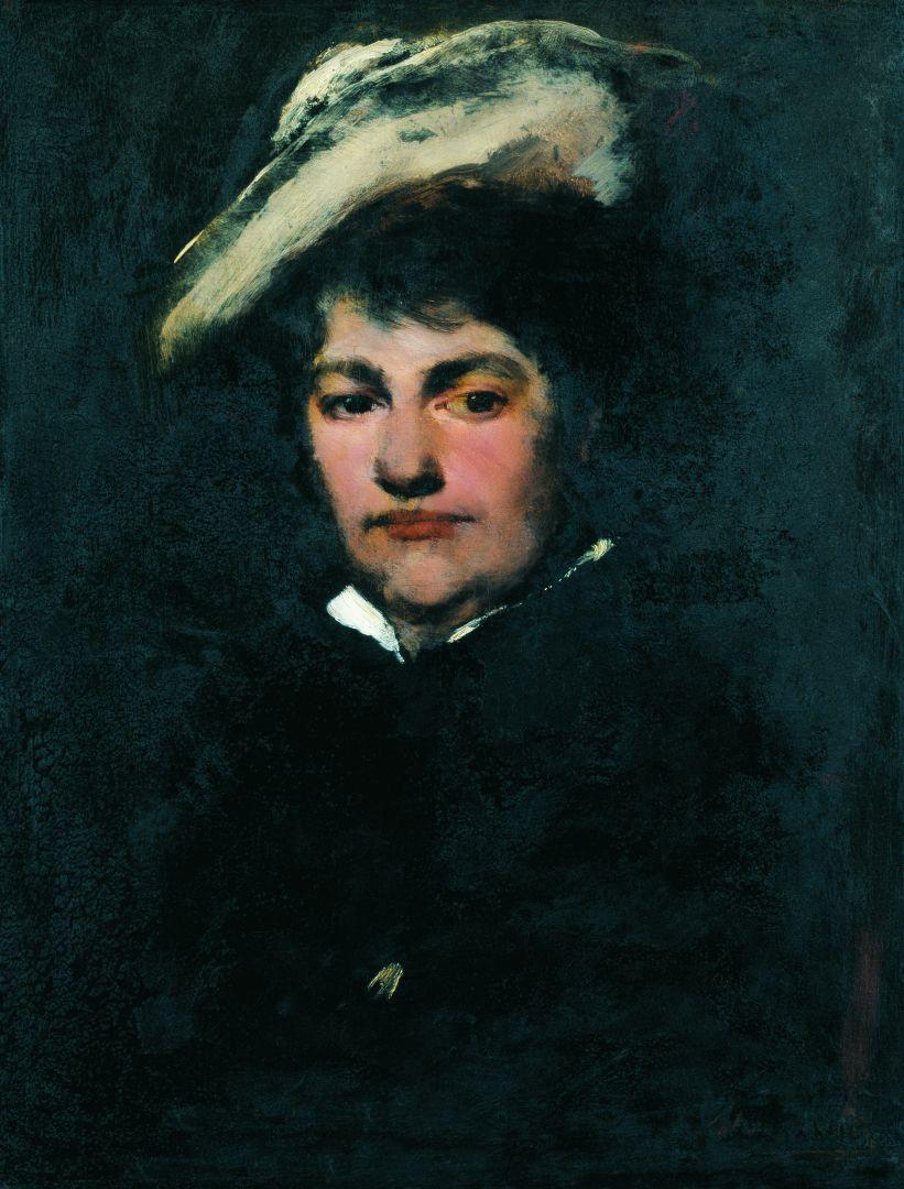 Михай Либ Мункачи. Портрет госпожи Мункачи, жены художника