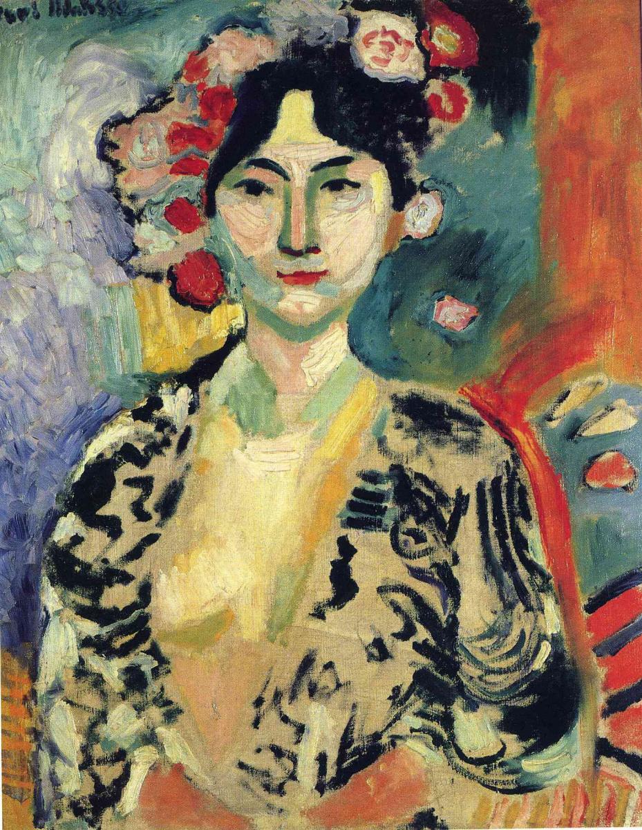 Анри Матисс. Портрет женщины с цветами в волосах