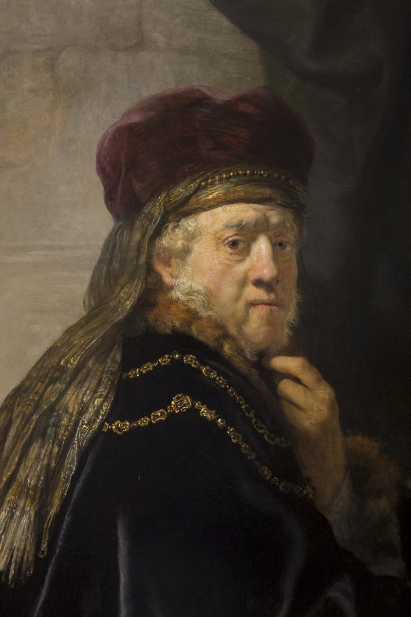 Рембрандт Харменс ван Рейн. Учёный за столом (фрагмент)