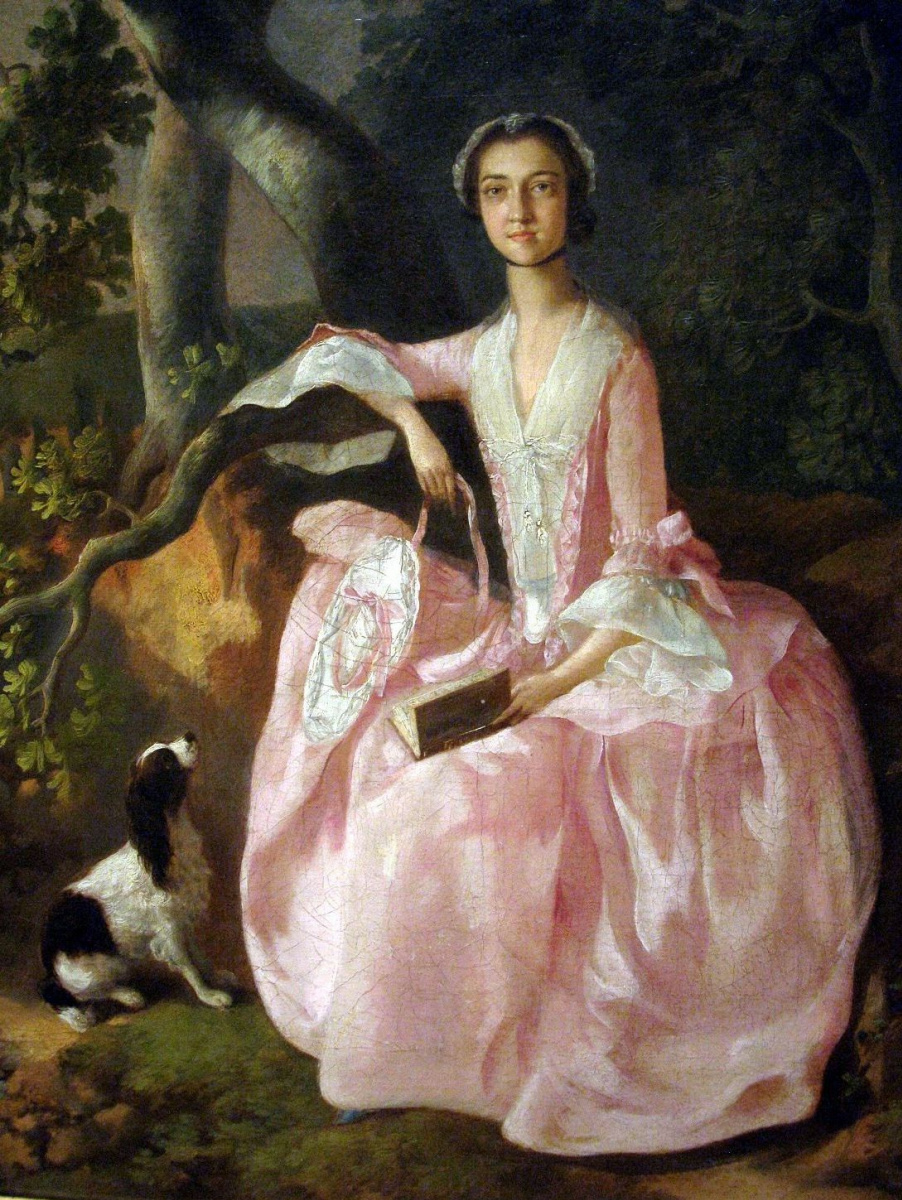 Thomas Gainsborough. A woman with a Spaniel
