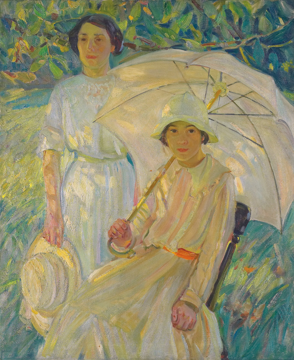 Helen Galloway McNicoll. White umbrella