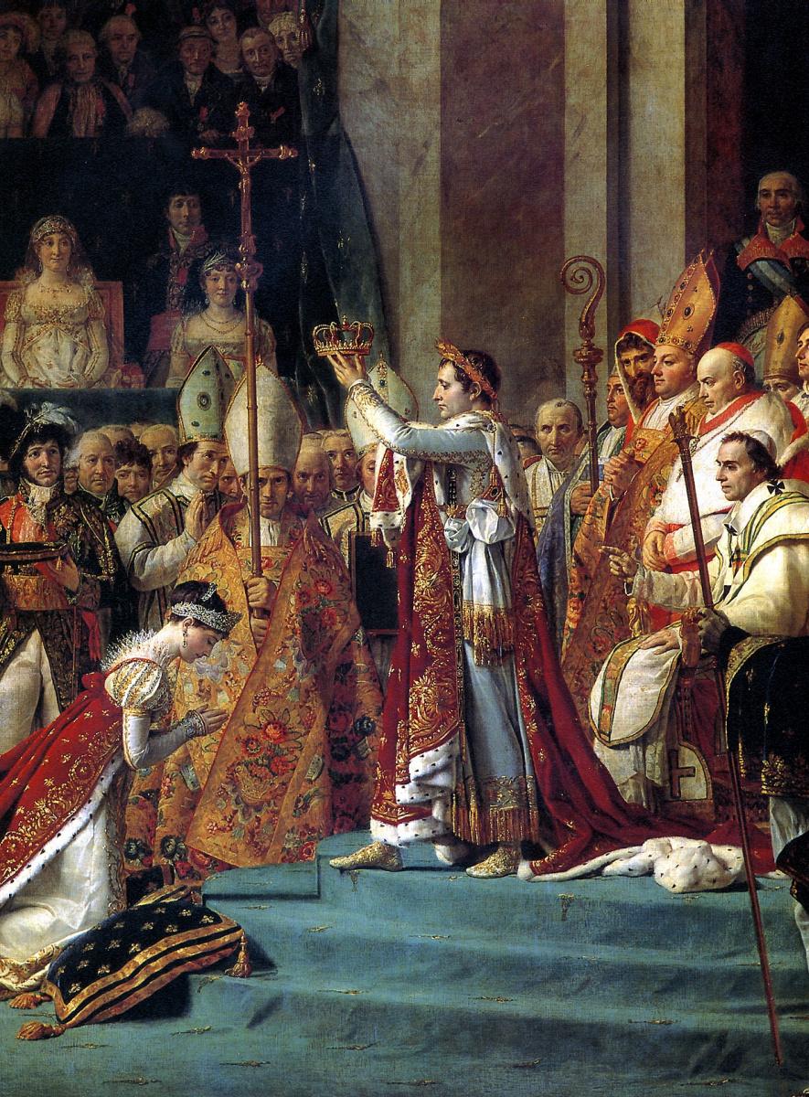 Жак-Луи Давид. Посвящение Наполеона I в императоры и коронация императрицы Жозефины в соборе Нотр-Дам в Париже 2 декабря 1804 г