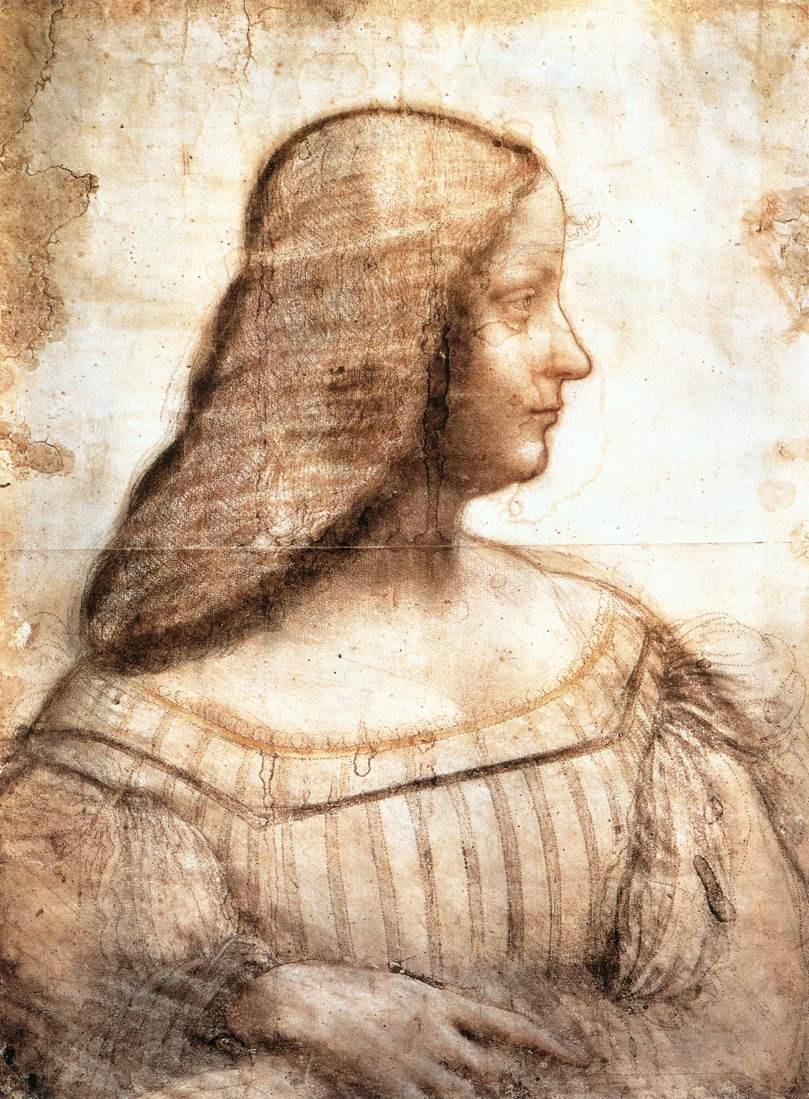 Леонардо да Винчи. Изабелла д'Эсте